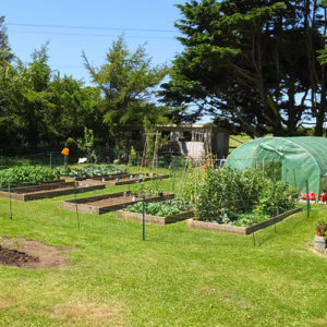 Bed and breakfast near Helston with a garden