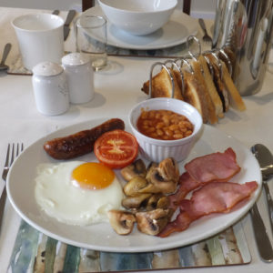 Breakfast at B&B near Helston